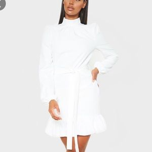 PLT || NWT white high neck smock dress